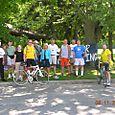 Welcoming Crew in Adrian MI for the Equal Parenting Bike Trek