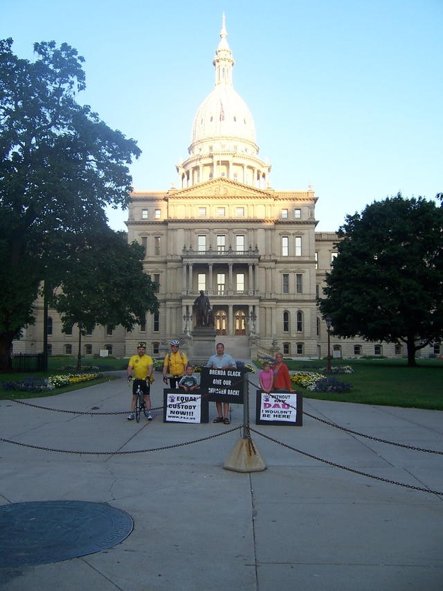 Picture in Front of Lansing Capitol