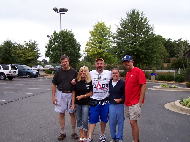 A Moment Frozen In Time Forever - The Equal Parenting Bike Trek Team Final Picture 2007