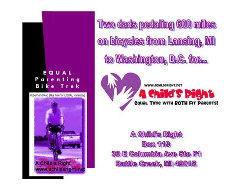Equal Parenting Bike Trek Postcard Promo