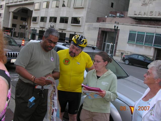 Murray Davis of NFJA, Robb MacKenzie and Angela Pedersen